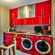 Contemporary Laundry Room by Stephensons Electronics & Designs Toronto