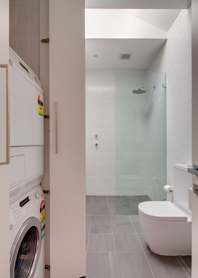 Modern Laundry Room by Angus Mackenzie Architect