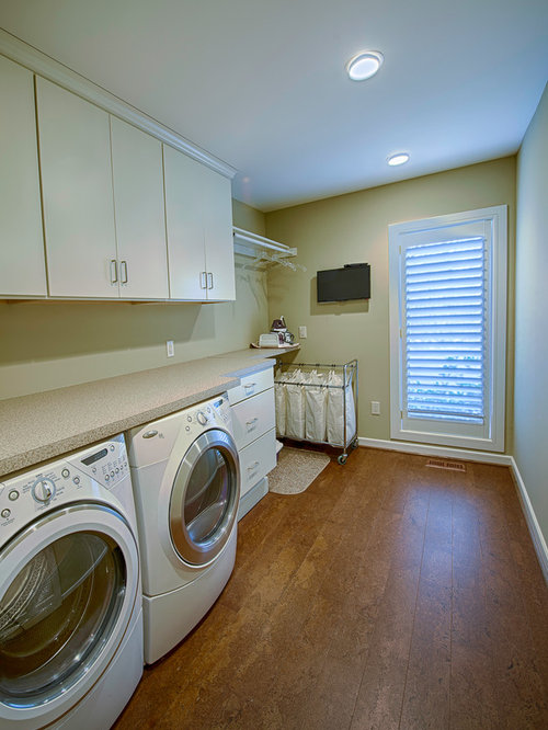 Top 20 Laundry Room with White Cabinets and Cork Floors Ideas | Houzz