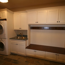 traditional laundry room by Matthies Builders