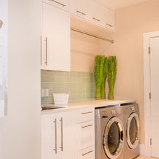 Contemporary Laundry Room by Hobson Woodworks Inc