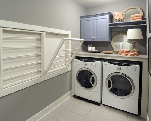 Hanging rack laundry room houzz - Hanging rack for laundry room ...