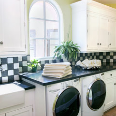 traditional laundry room by Theresa Franklin, ASID