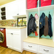 Eclectic Laundry Room by Starline Cabinets