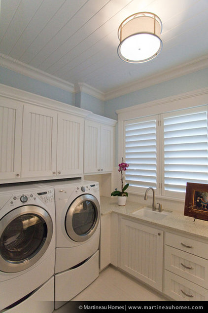 Traditional Laundry Room by Martineau Homes