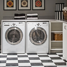 Contemporary Laundry Room by Andrea Braund Home Staging & Design