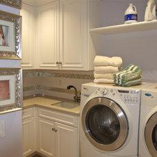 Mediterranean Laundry Room by Shannon Ggem ASID