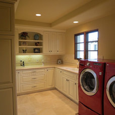 Mediterranean Laundry Room by TRE architecture