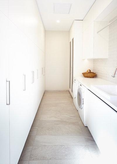 Contemporary Utility Room by Michelle Jarni