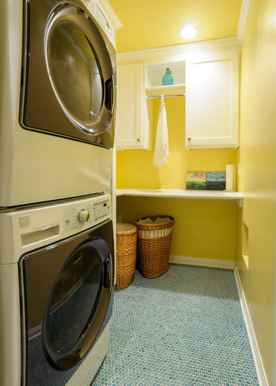 Marvelous Transitional Laundry Room by Angela Marchetti of Crown Avenue Interiors