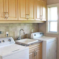 Traditional Laundry Room by Mid Island Cabinets