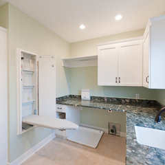 contemporary laundry room by Mill Cabinet Shop