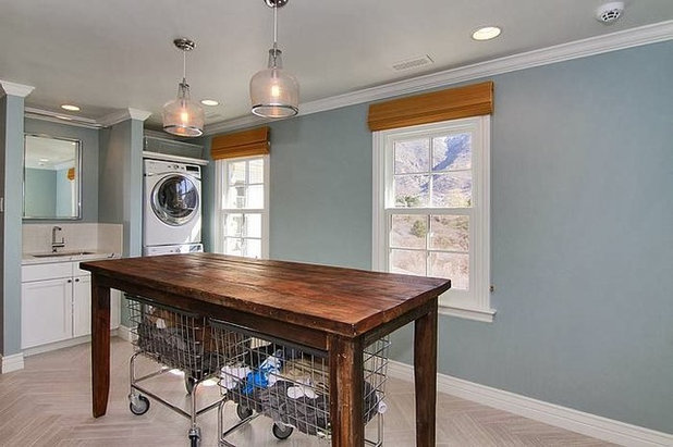 Transitional Laundry Room by Copper Hills Custom Homes
