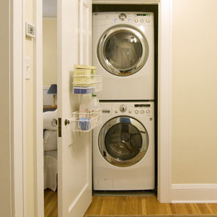 Inspiration For A Timeless Laundry Closet Remodel In Minneapolis With A  Stacked Washer/dryer