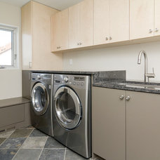 Contemporary Laundry Room by Redstone Builders