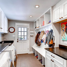 Traditional Laundry Room by Gunlock Homes