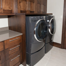 Modern Laundry Room by Wende Woodworking LLC