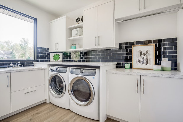 Contemporary Laundry Room by CVI Design - Carly Visser