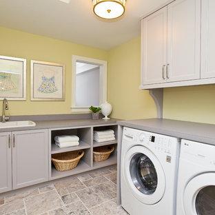 Yellow And Gray Laundry Room Ideas Photos Houzz