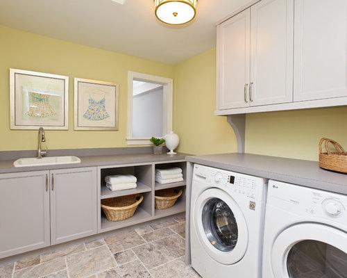 id e buanderie jaune. Black Bedroom Furniture Sets. Home Design Ideas