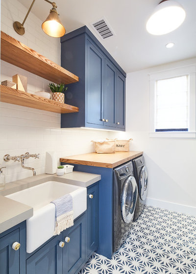 Beach Style Laundry Room by Noelle Interiors