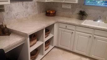 Modern faux marble