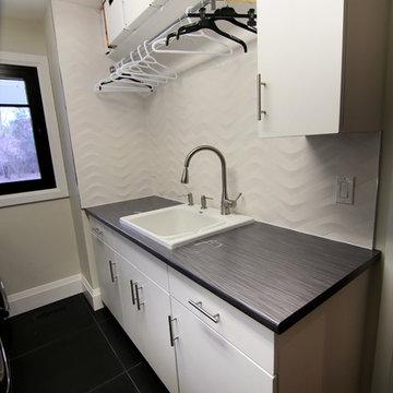 Modern High Gloss White Kitchen