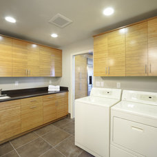 Contemporary Laundry Room by DreamBuilders Home Remodeling