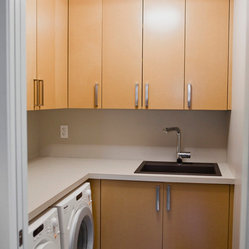 Other Metro Small Laundry Room Laundry Room Design Ideas, Pictures