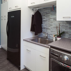 Modern Laundry Room by Kitchen Craft Cabinetry Vancouver and Victoria