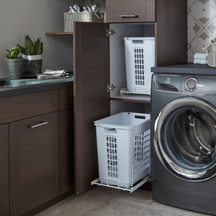 Modern Laundry Room with Martin door style