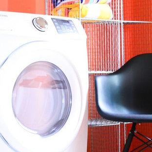 Example of a minimalist laundry room design in Burlington
