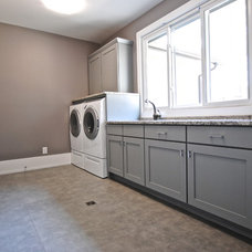 Traditional Laundry Room by Berry Design Build