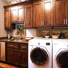 Modern Laundry Room by Walker Woodworking