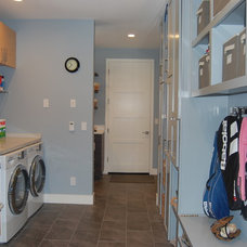 Contemporary Laundry Room by Moderna Homes, Inc.