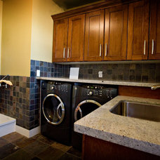 Traditional Laundry Room by W. Friesen Construction