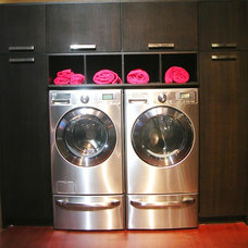 Modern Laundry Room by Marina V. Phillips