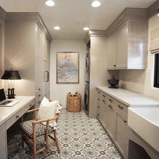 Modern Spanish Estate - Laundry Room www.hryanstudio.com