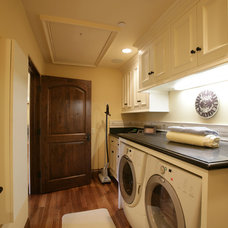 mediterranean laundry room by Conrado - Home Builders
