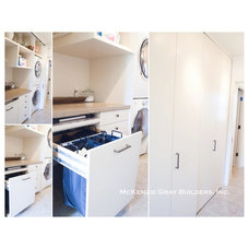Contemporary Laundry Room by McKenzie Gray Builders, Inc.