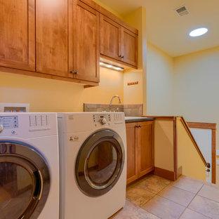 Inredning av en amerikansk tvättstuga