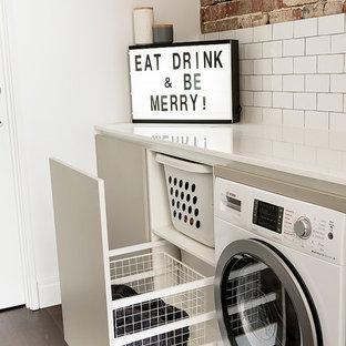 Foto di una lavanderia scandinava