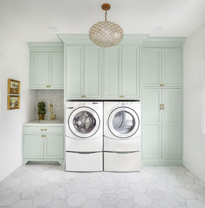Transitional Laundry Room by The Fox Group