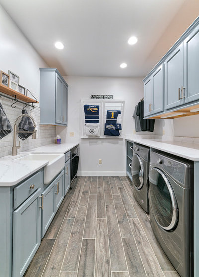 Transitional Laundry Room By Excel Interior Concepts Construction