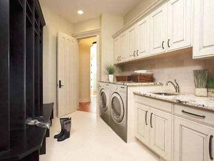Traditional Laundry Room by Michael Burr Design