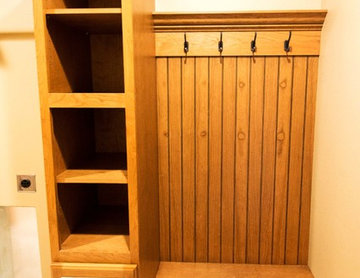 Mud Room Bench, Cabinets, and Storage featuring Cherry