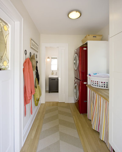 Transitional Laundry Room by Clawson Architects, LLC
