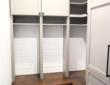 Mudroom with custom lockers