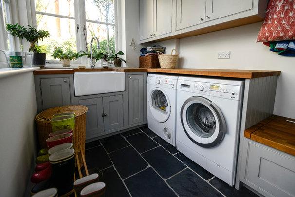 Transitional Laundry Room Adamo Family