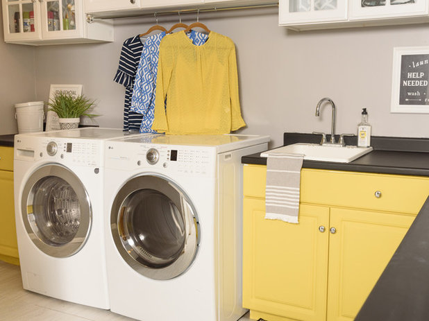 Traditional Laundry Room by Hado Photo